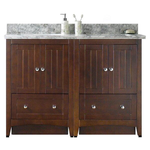 Nixon Floor Mount 48 Double Bathroom Vanity Set