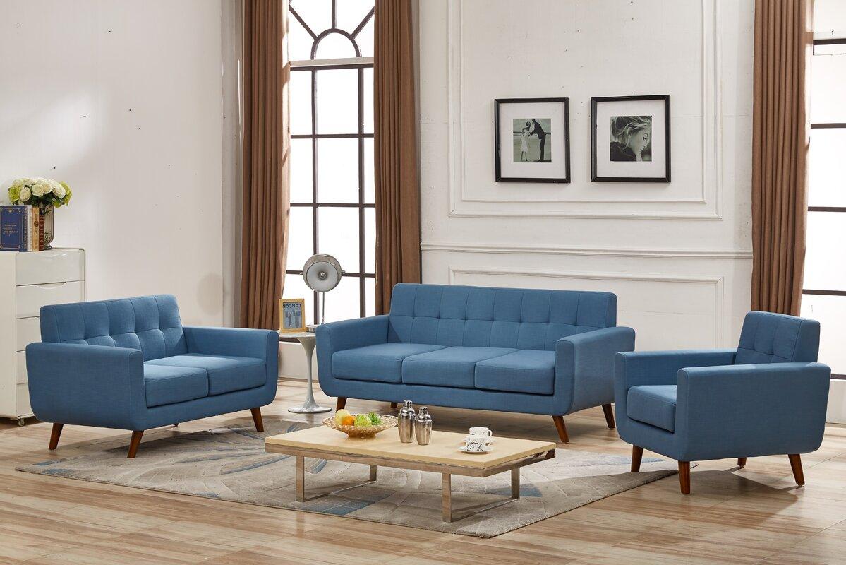 Magic 3 Piece Living Room Set. Mid Century Modern Living Room Sets You ll Love   Wayfair