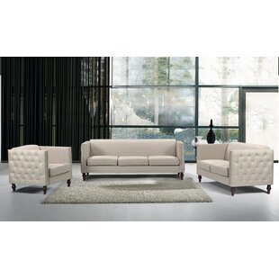 Kemble 3 Piece Standard Living Room Set by Canora Grey