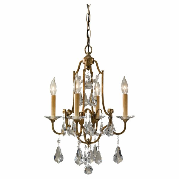 Valentina 4-Light Candle Style Chandelier by Feiss