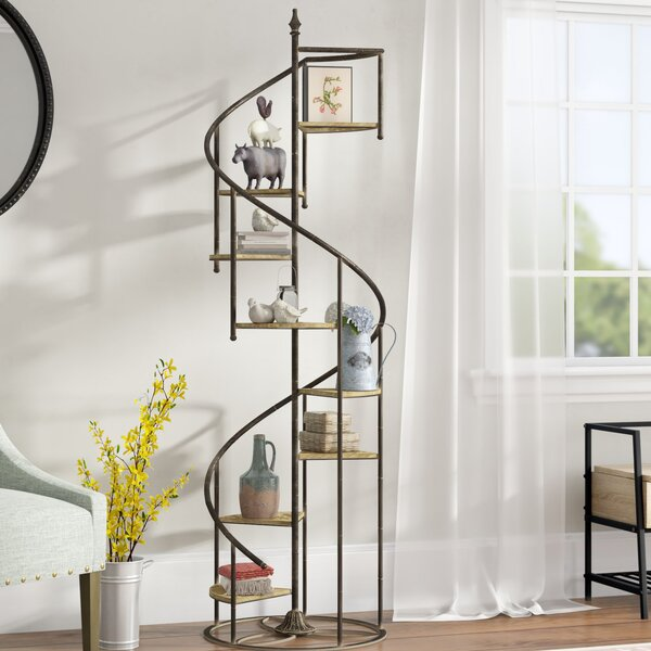 Shauna Spiral Staircase Etagere Bookcase by Laurel Foundry Modern Farmhouse