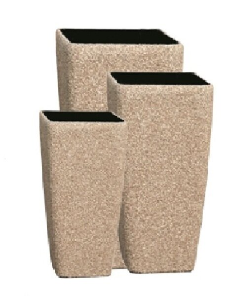 Elettra 3-Piece Fiber Stone Pot Planter Set by Bloomsbury Market