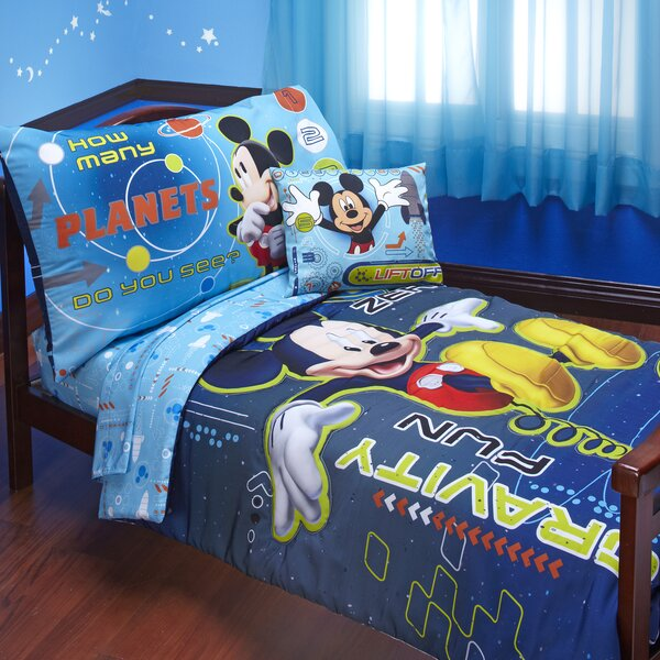 Mickey Mouse Space Adventures 4 Piece Toddler Bedding Set by Disney