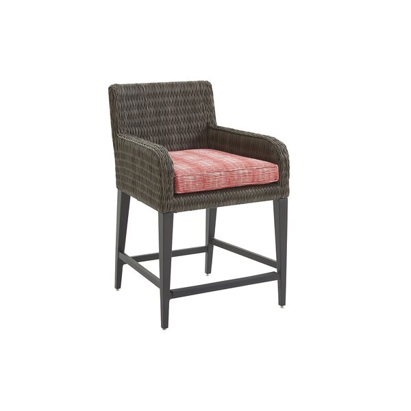 Cypress Point Ocean Terrace 21 Patio Bar Stool with Cushion by Tommy Bahama Outdoor
