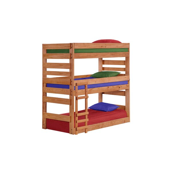 Dabney Stackable Triple Bunk Bed by Harriet Bee
