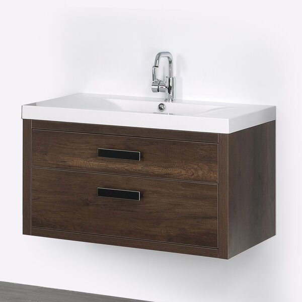 39 Wall Mounted Single Bathroom Vanity Set by Streamline Bath