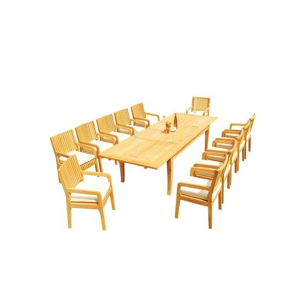 Masson 13 Piece Teak Dining Set