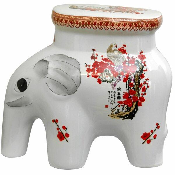 Elephant Ceramic Garden Stool by Oriental Furniture