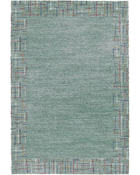 Brock Teal Area Rug by Ebern Designs