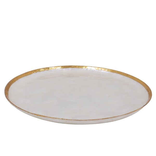 Reseda Capiz Platter by Rosecliff Heights