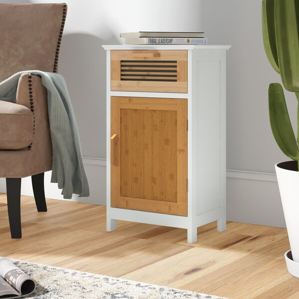 Tetrault Bamboo Floor 1 Drawer Accent Cabinet by Millwood Pines