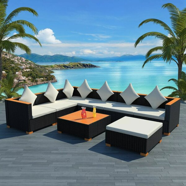 Stalbridge Garden 8 Piece Sectional Seating Group with Cushions by Ivy Bronx