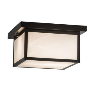 Compare prices Ziolkowski 2-Light Outdoor Flush Mount By Loon Peak