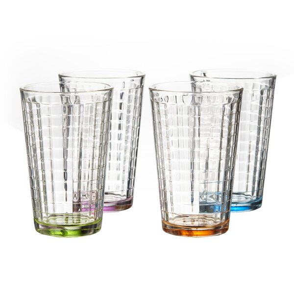 Hoboken colored 14 oz. Highball glass (Set of 4) by Style Setter