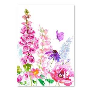 'Foxglove Floral' Print by East Urban Home