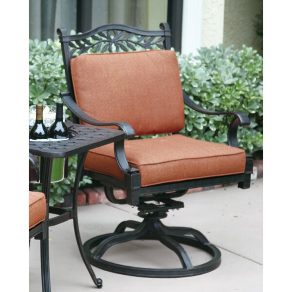 Fairmont Swivel Patio Dining Chair with Cushion by Astoria Grand Astoria Grand