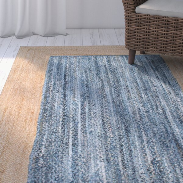 Belford Tan/Blue Area Rug by Beachcrest Home