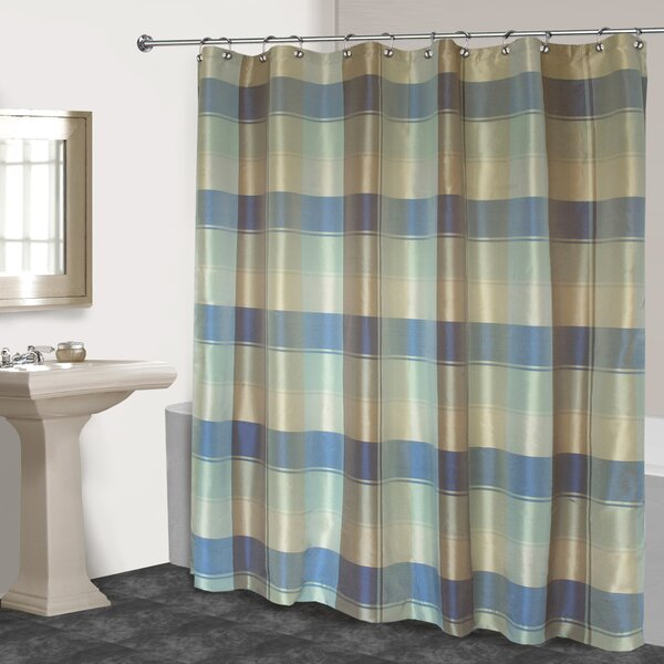 Dempsey Plaid Shower Curtain by Charlton Home