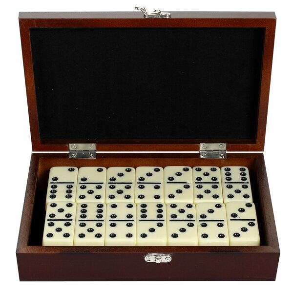 Premium Domino Set with Wooden Carry Case by Hathaway Games