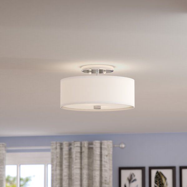 Bennet 2-Light Semi Flush Mount by Mercury Row