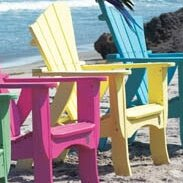 Wave Wood Adirondack Chair by Uwharrie Chair