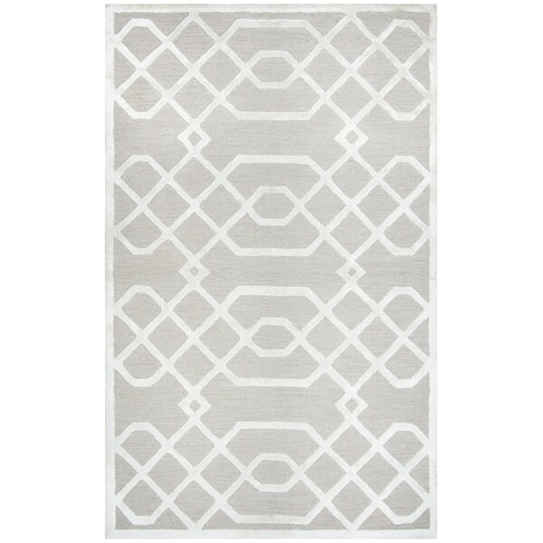 Fabian Hand Tufted Wool Beige Area Rug by Mercer41
