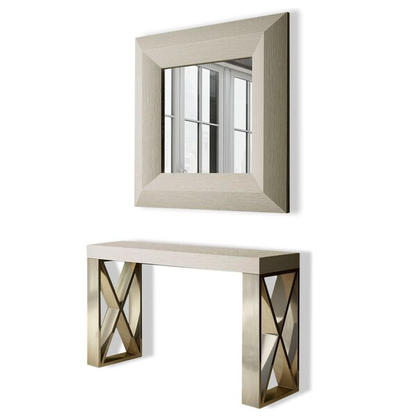 Review Clemens Console Table And Mirror Set