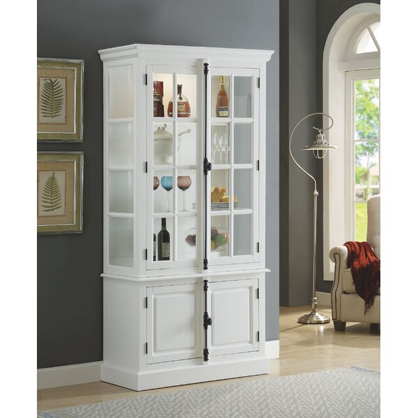 Crewellwalk Lighted Curio Cabinet by Darby Home Co