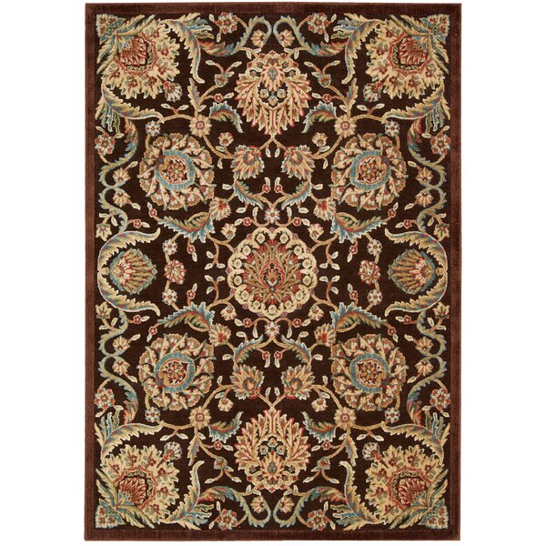 Smithson Chocolate/Beige Area Rug by Charlton Home