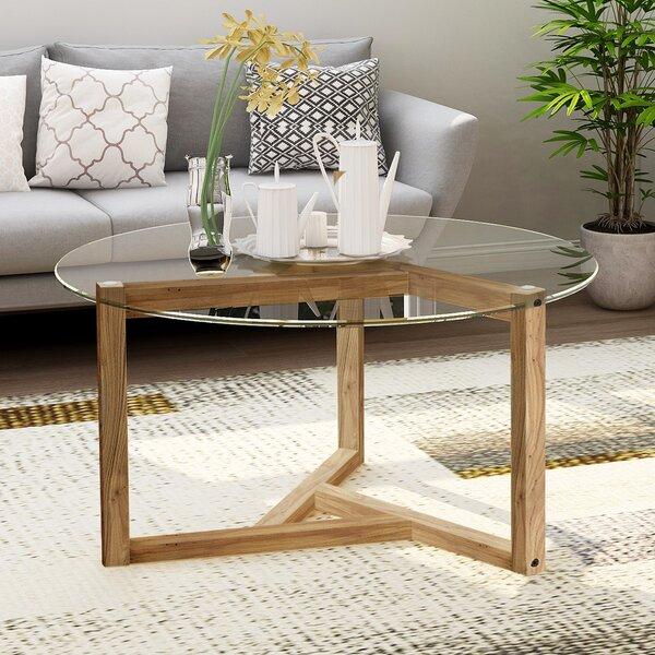 Venedy Cross Legs Coffee Table by Brayden Studio Brayden Studio