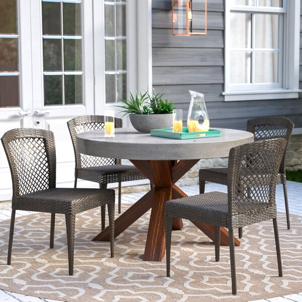 Causey Stacking Patio Dining Chair (Set Of 4) By Brayden Studio