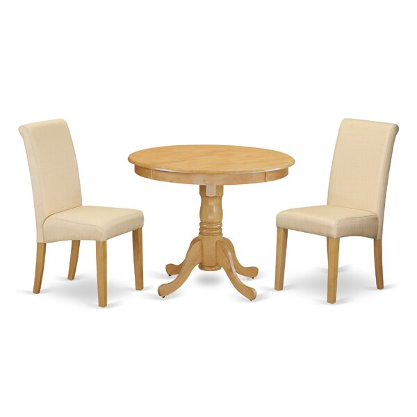 Paramore Table 3 Piece Solid Wood Dining Set by Charlton Home Charlton Home