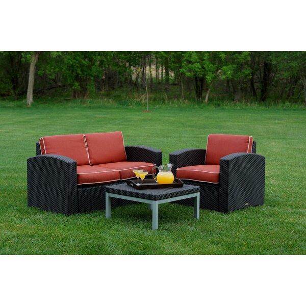 Loggins 3 Piece Sofa Set with Cushions by Brayden Studio