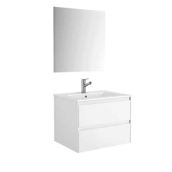 Arnau 24 Wall-Mounted Single Bathroom Vanity Set