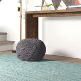 Manorhaven 20 Round Pouf Ottoman by Mercury Row