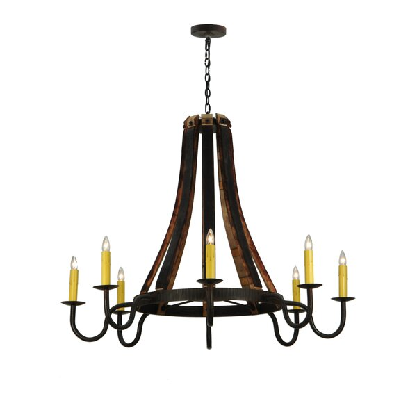 Fanning 8 - Light Candle Style Empire Chandelier by Foundry Select Foundry Select