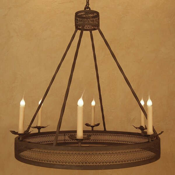 Martell 6 - Light Candle Style Wagon Wheel Chandelier By Astoria Grand