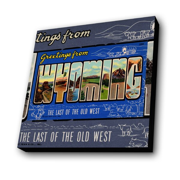 Greetings from Wyoming Graphic Art Plaque by Lamp-In-A-Box