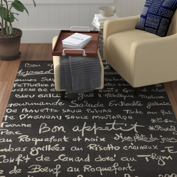 Huffman Charcoal Indoor/Outdoor Area Rug by Winston Porter