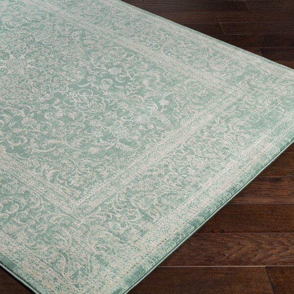 Anil Green/Beige Area Rug by Bungalow Rose