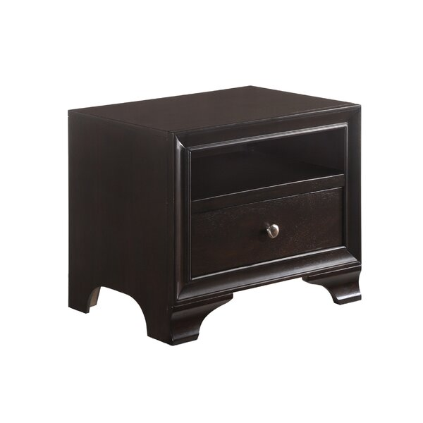 Jared 1 Drawer Nightstand by Alcott Hill