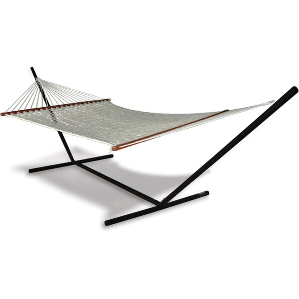 Spicer Double Hammock with Stand by Breakwater Bay