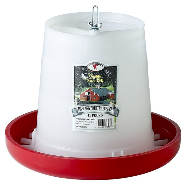 Little Giant Farm & Ag Plastic Hanging Poultry Feeder by Miller Mfg