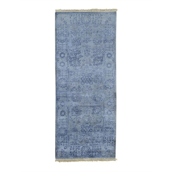 One-of-a-Kind Rudolph Tone on Tone Hand-Knotted Gray Area Rug by Astoria Grand