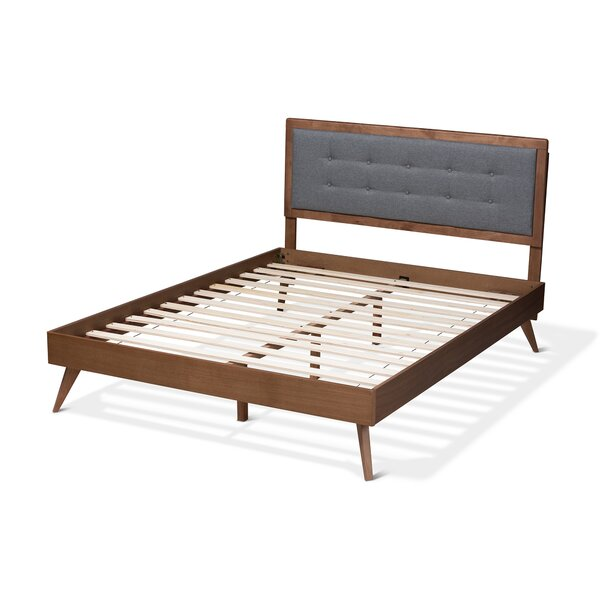 Ines Mid-Century Modern Upholstered Platform Bed By Wholesale Interiors
