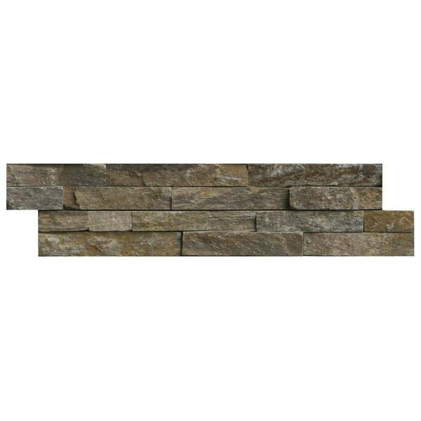 Canyon Creek 6 x 24 Panel Random Sized Natural Stone Splitfaced Tile in Gray by MSI