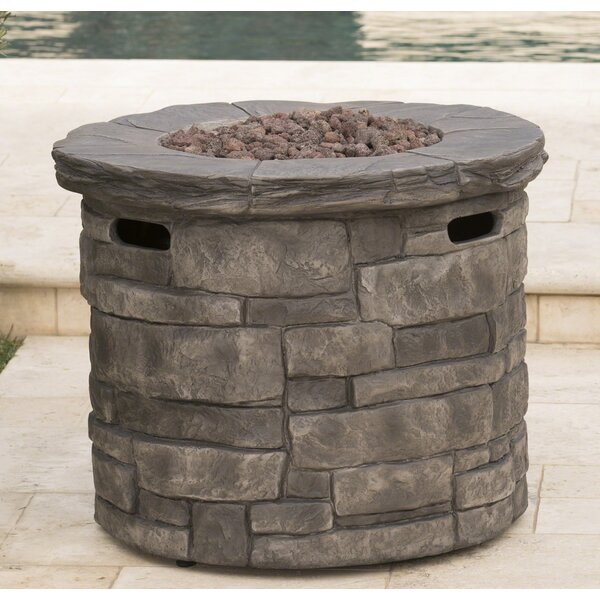 Cooksey Stone Propane Fire Pit Table by 17 Stories