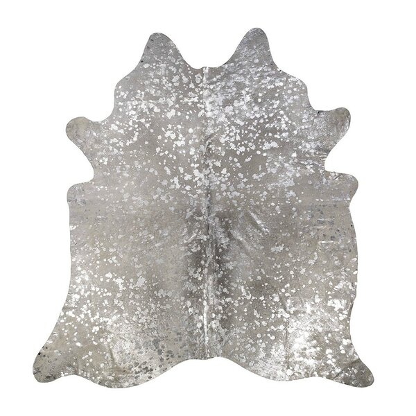 Devore Star Cowhide Gray/Silver Area Rug by Saddlemans