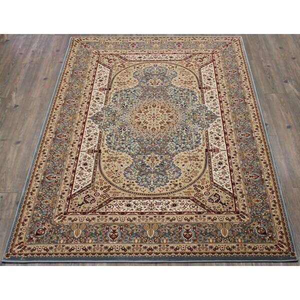 Tabriz Hand-Tufted Blue Area Rug by Rug Factory Plus
