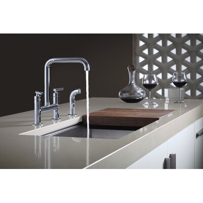Deck Mount Kitchen Sink Faucet Polished Chrome 494 Product Photo
